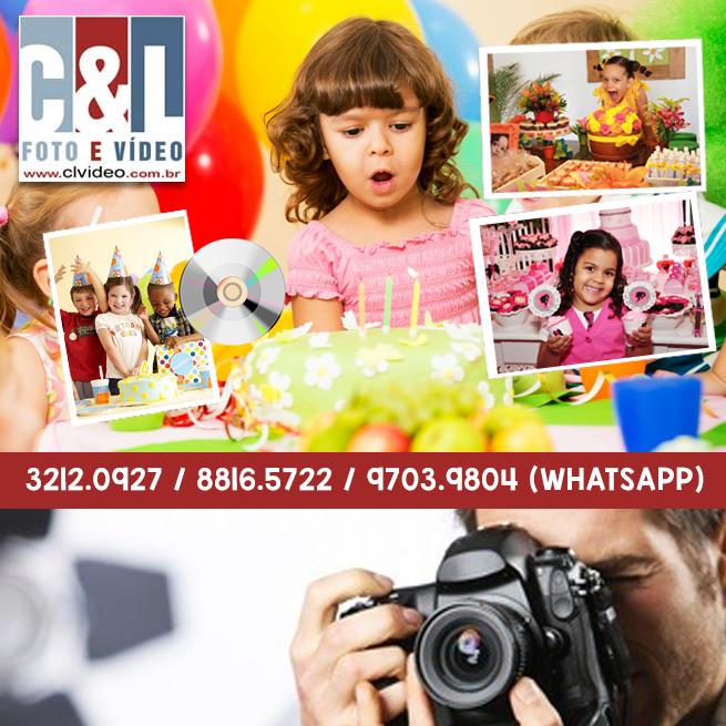Cobertura Fotográfica  para aniversário infantil no cd.